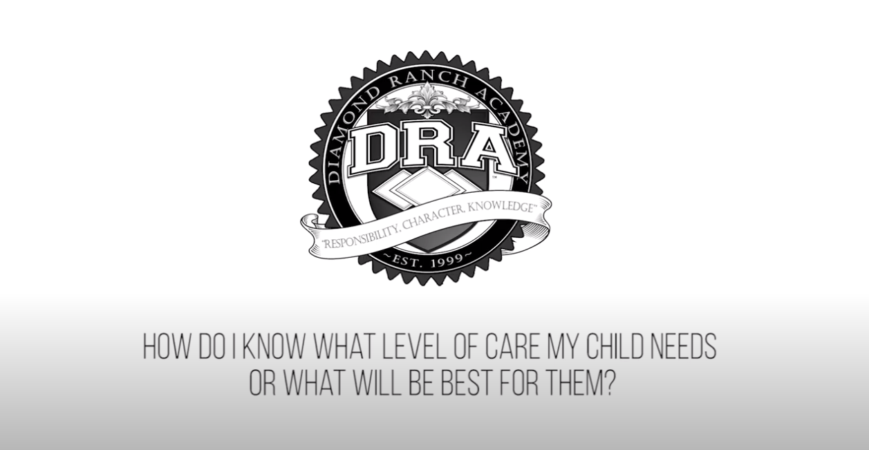 How does Diamond Ranch Academy decide what therapy track a student is on?